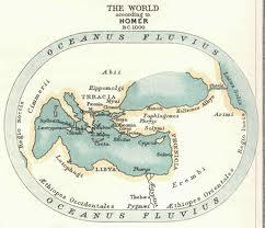 Карта Гомера, примерно 1000 лет до н.э.